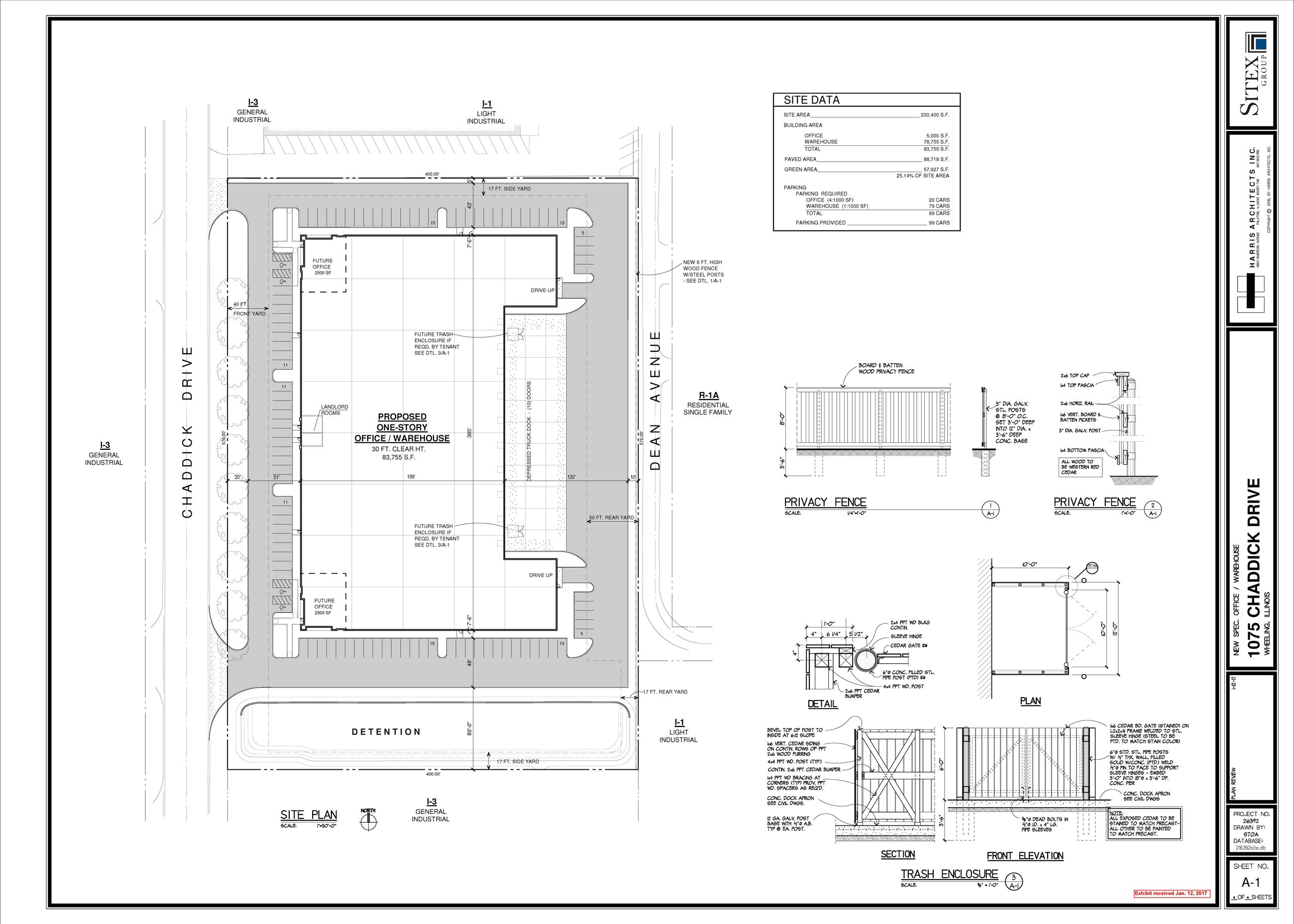 1075 Chaddick - Sitex Site Plan